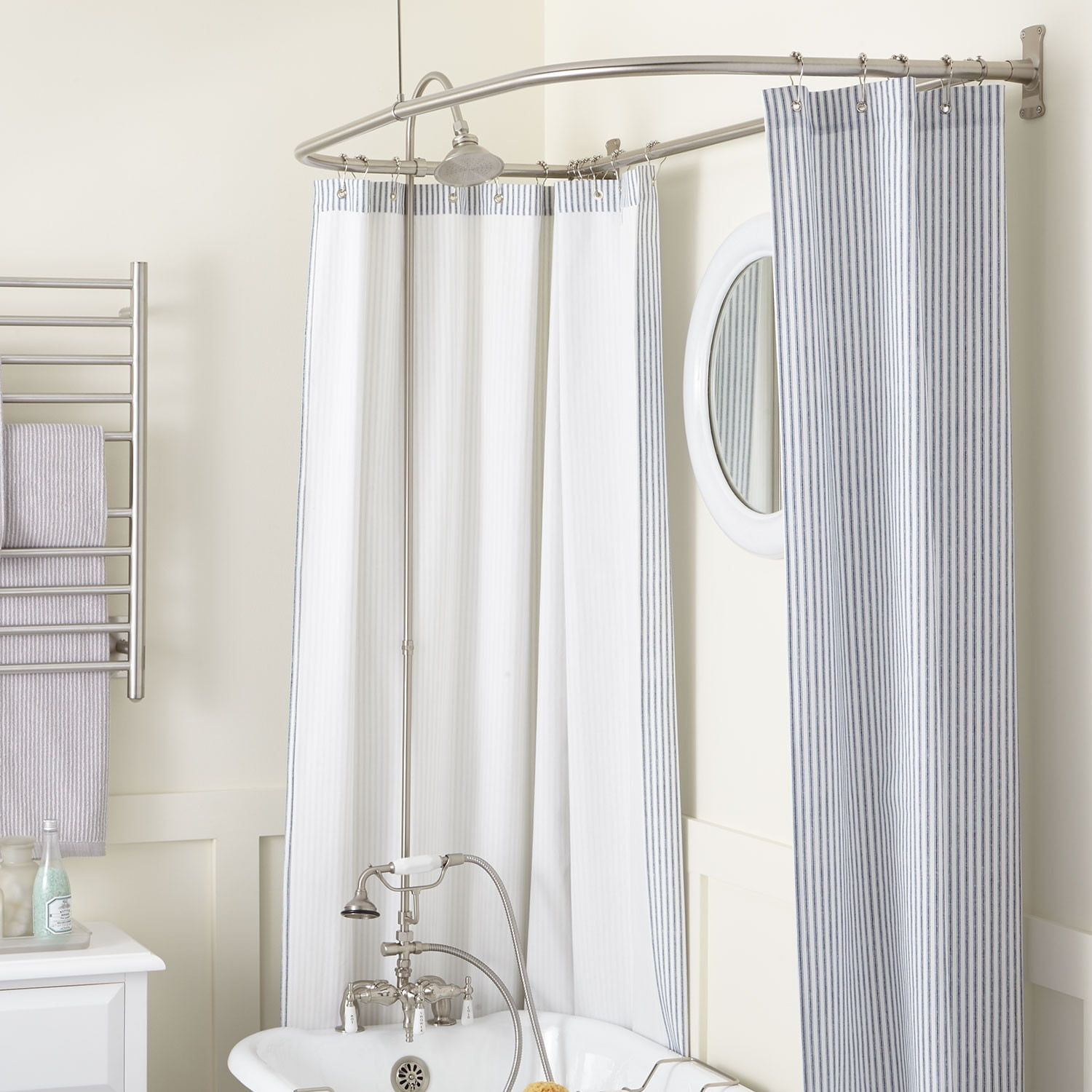 Rim Mount Clawfoot Tub Hand Shower Kit In D Style Shower Ring