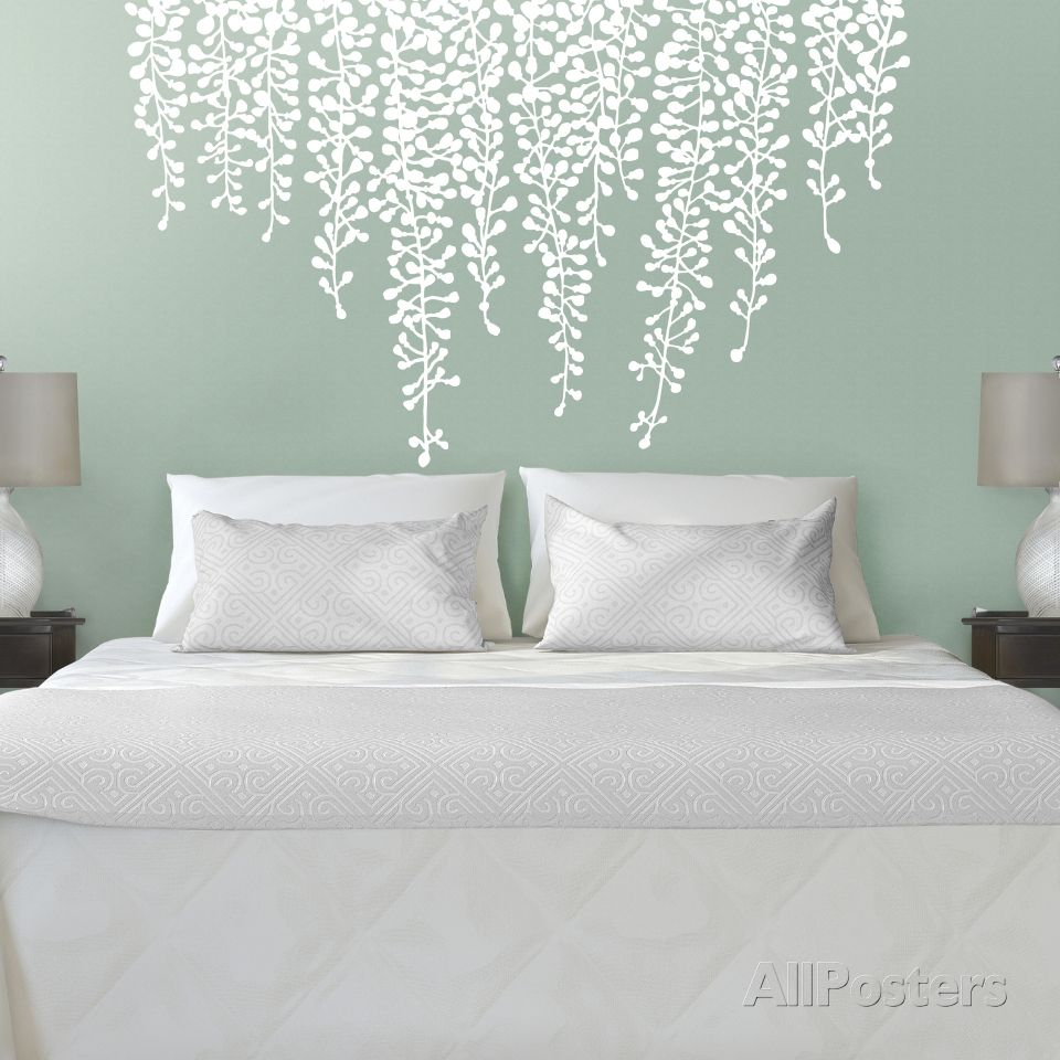 Martha stewart living hanging wisteria white transfer wisteria house martha stewart living hanging wisteria white transfer wall decal at allposters amipublicfo Images