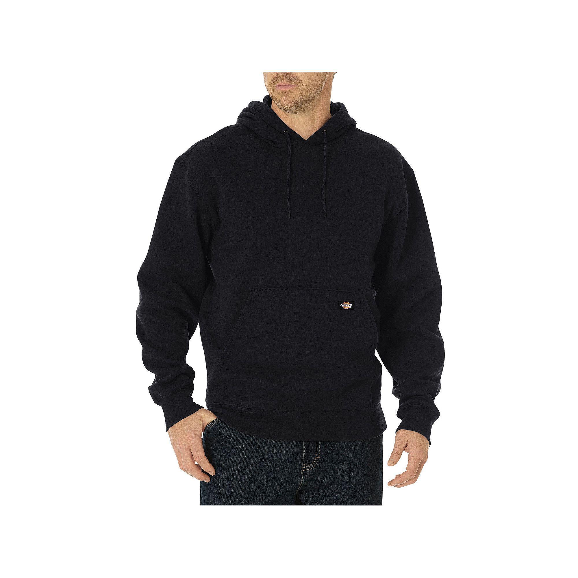 9163057d12 Men's Dickies Midweight Fleece Pullover Hoodie, Size: X Lrge M/R, Black