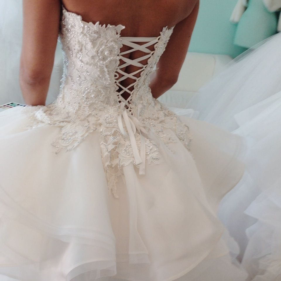 Our beautiful custom made dress. Lace and Satin, Brooklyn NY ...