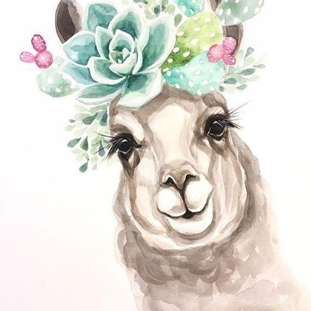 رمزيات صور خلفيات فن رسم ديكوباج كيوت Art Cute Beautiful رمزيات صور خلفيات فن رسم ديكوباج كي Watercolor Print Llama Painting Bunny Watercolor