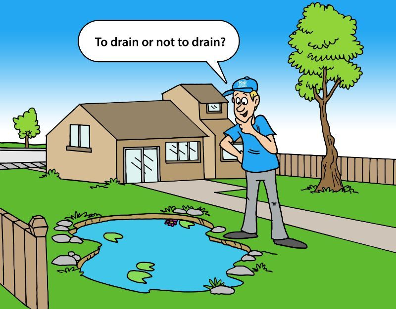 How to easily drain a pond with or without a pump