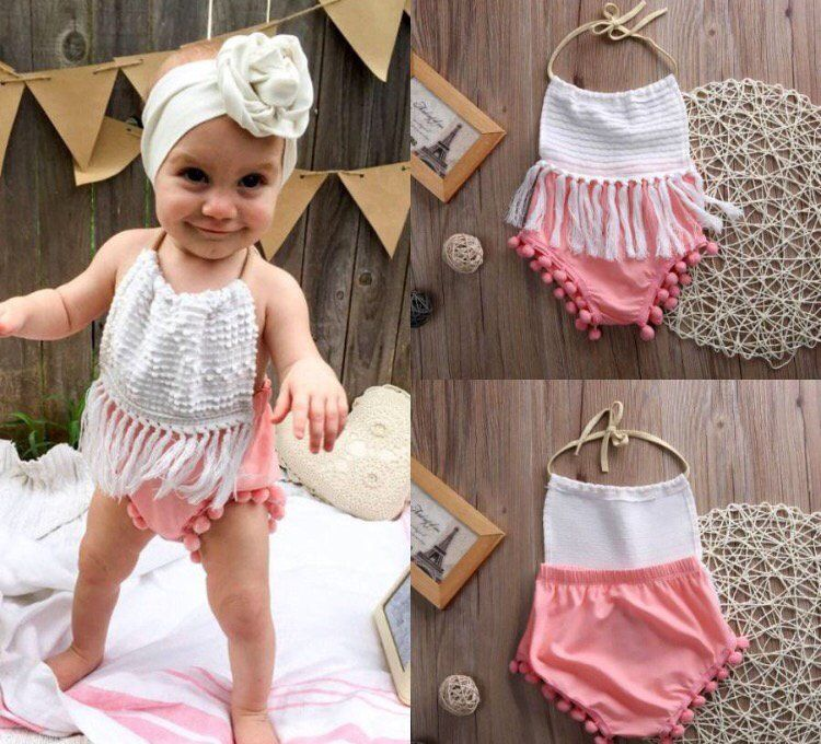b5a8643cf8b Image of Pink and white Pom Pom romper