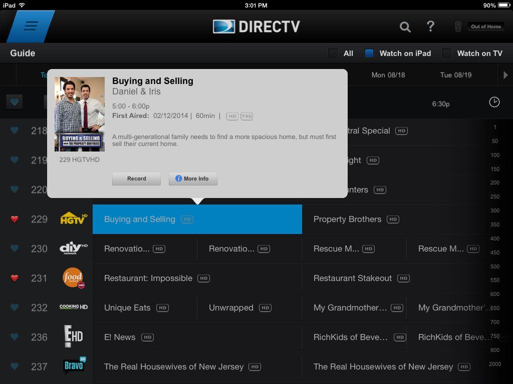 Directv guide Directv, Multi generational, Guide