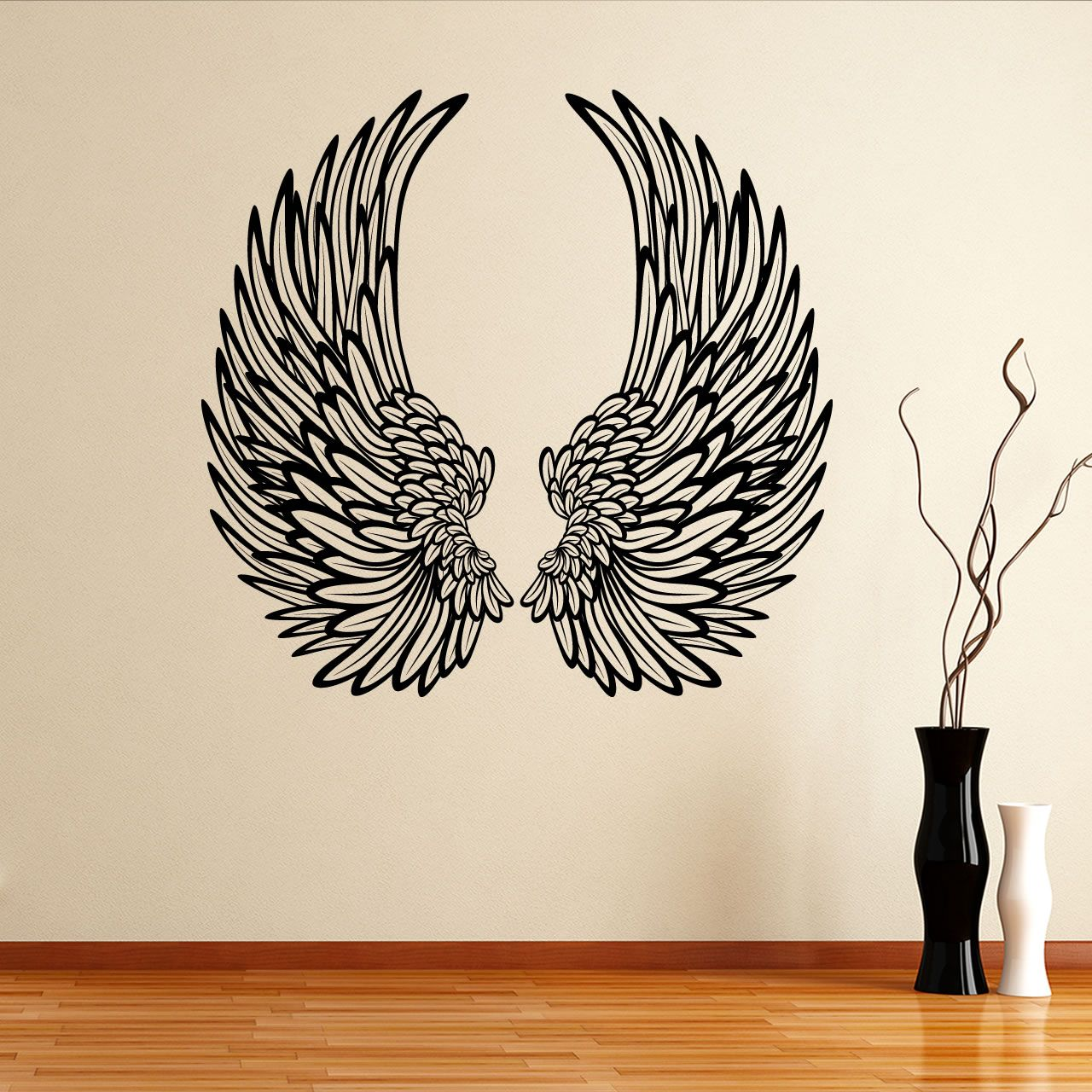 angel wall decals details about angel wings with on wall stickers painting id=90332