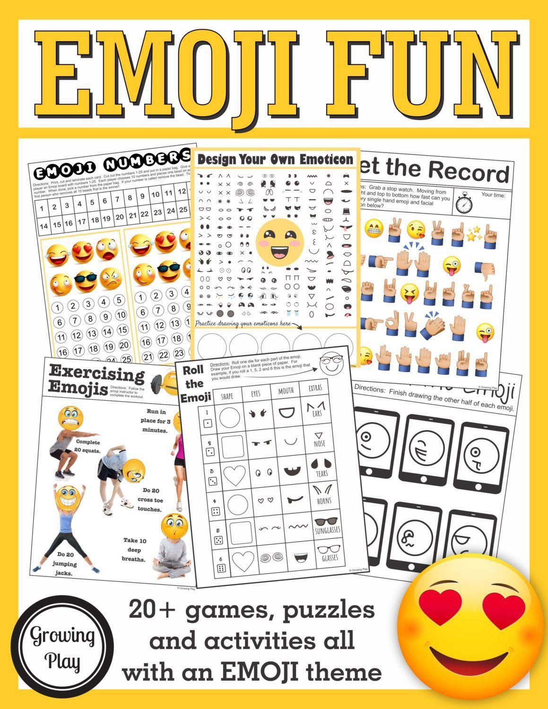 Emoji Funny Maze Free Printable Growing Play Emoji Games Emoji Birthday Party Emoji Party