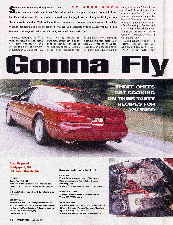 1991 Svt 4 6 Custom Thunderbird Car Super Cars Ford Thunderbird