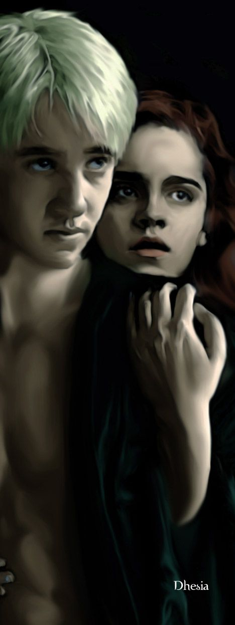 In The Darckness By Dhesia On Deviantart Harry Potter Artwork Dramione Hermione