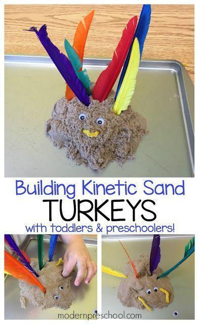 Building Kinetic Sand Turkeys