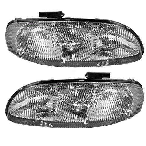 This Is A Brand New Aftermarket Passenger Driver Side Headlight Assembly Pair That Fits A 19952001 Chevrolet Lumi