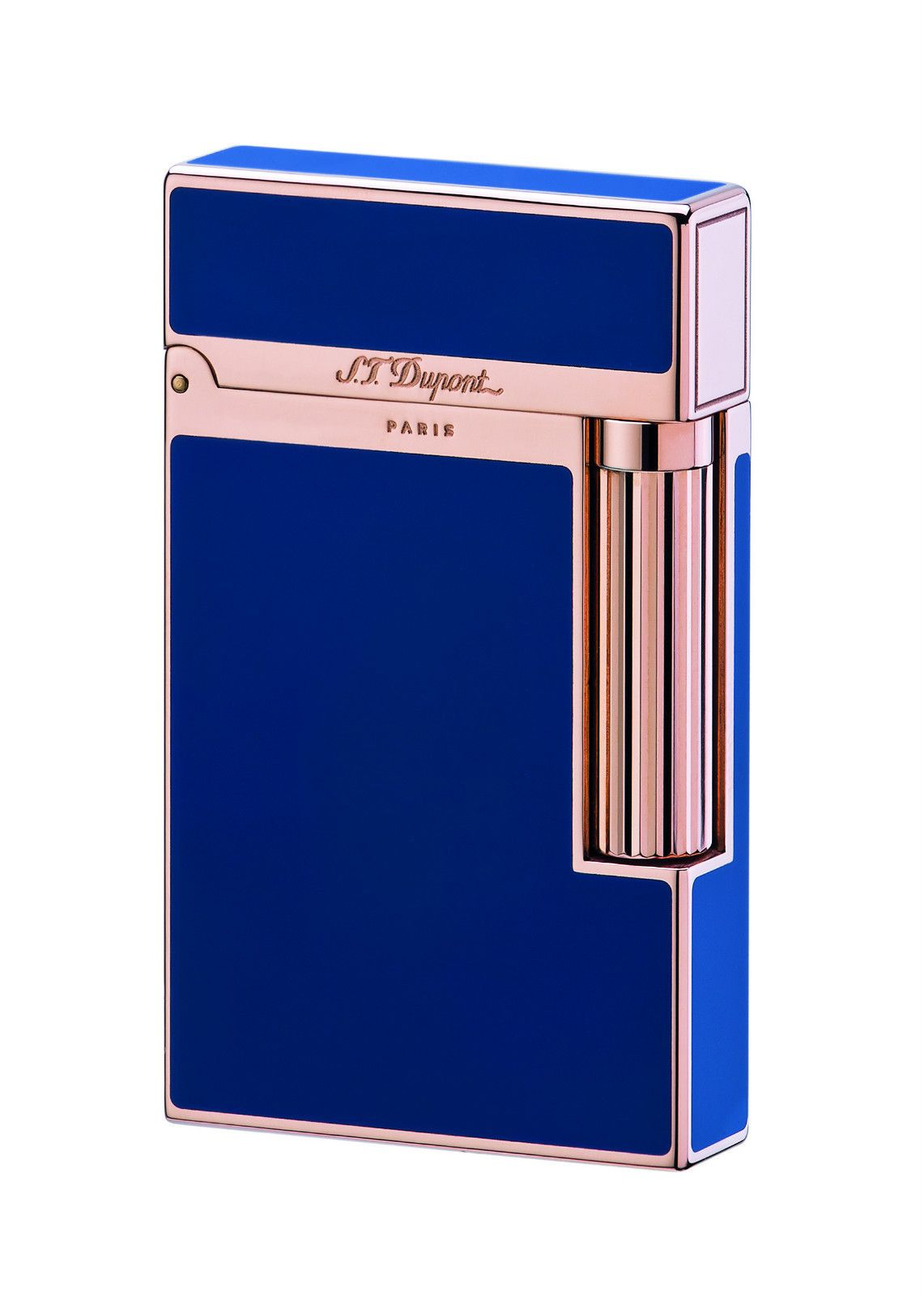 df386e4d10d5 S.T. Dupont Ligne 2 Lighter - Model    016496 - Blue Chinese Lacquer - Pink  Gold Finish