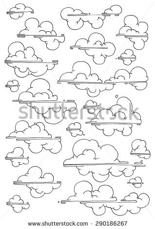 Cloud Drawing Easy : cloud, drawing, Simple, Drawing, Clouds, Decorative, Pattern, Drawings,, Valentines, Coloring, Page,, Drawings