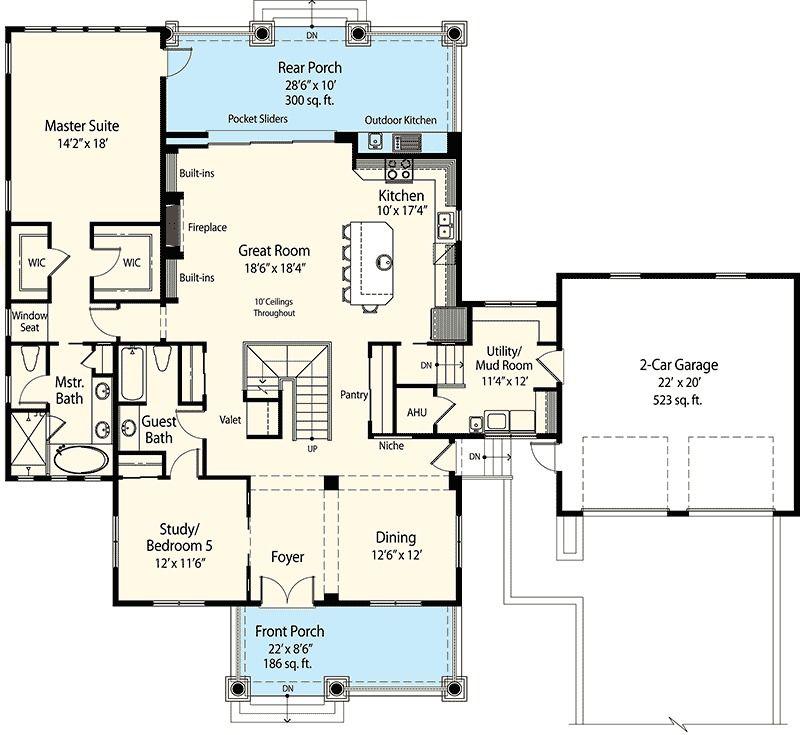 Plan 33090zr Net Zero Energy Farmhouse Mediterranean House Plans House Plans Mediterranean Home