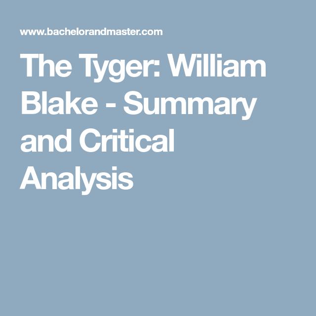 the tyger summary