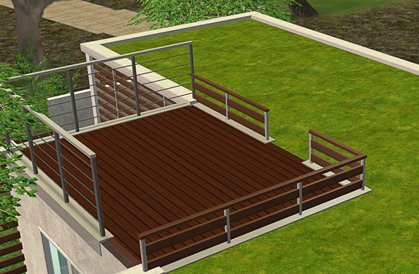 Lavishly Design A Deck 3 Super Brilliant Ideas Midcityeast  Almosthomedogdaycare Railing. Build Mode The Sims 3