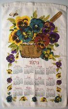 1979 Basket Of Pansies Pansy Flowers Kitchen Calendar Pansies