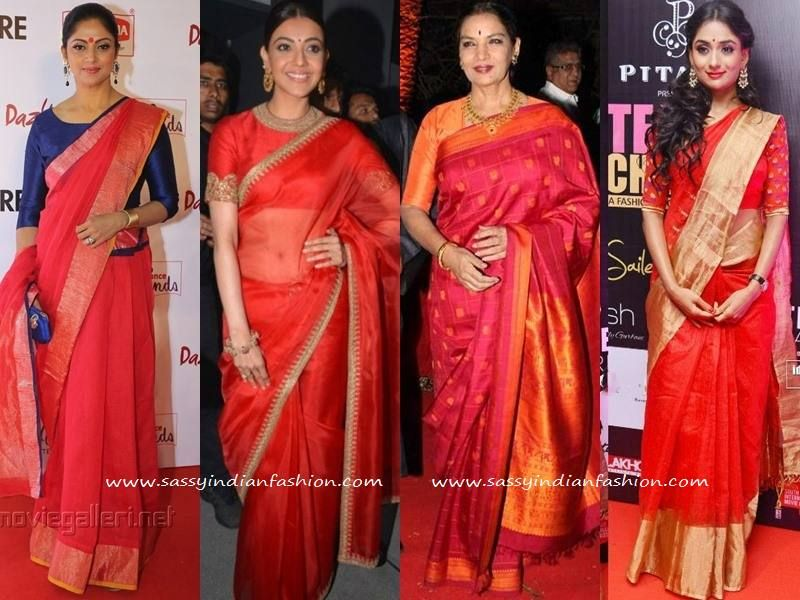 a47f764ecf9d7 Tired of your Silk Sarees  See This  100+  Celebrity Saree Style ...