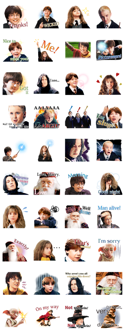 Everyday Magic Harry Potter Sticker For Line Whatsapp Telegram Android Iphone Ios Harry Potter Stickers Harry Potter Scene Harry Potter Images