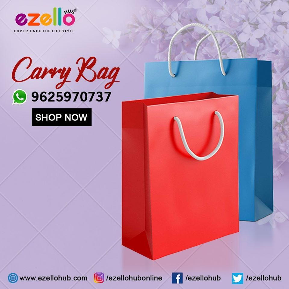 Single Collor Paper Bag In 2020 Print On Paper Bags Carry On Bag Carry On