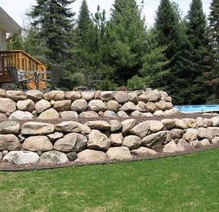 Low Cost Retaining wall ideas, Cheaper than block stone gabion walls are  quick and easy to build.