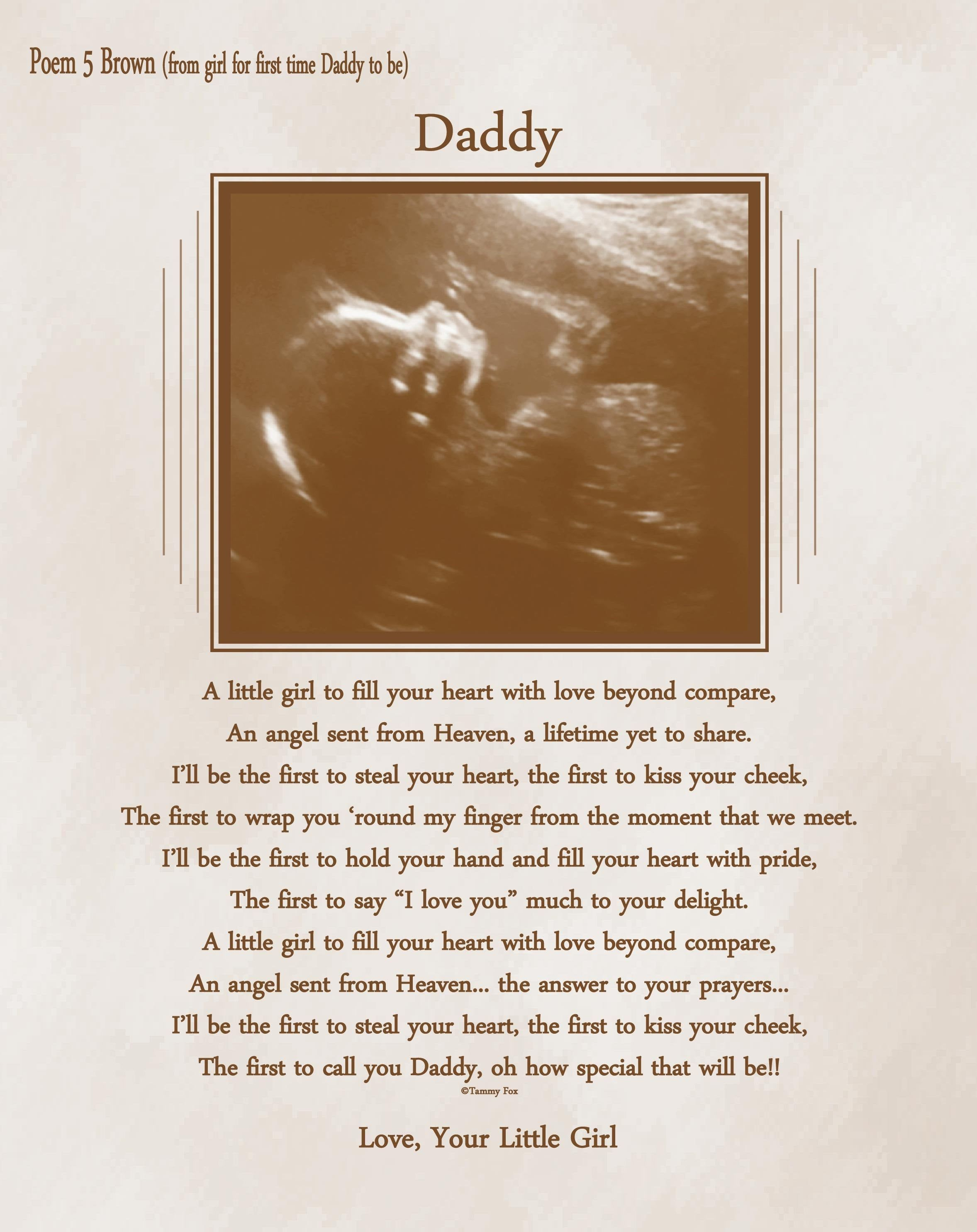Fathers day gift for expecting daddy from unborn baby