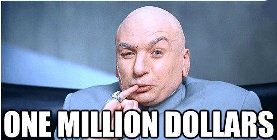 Twitter One million dollars, Dr evil, Gaming memes
