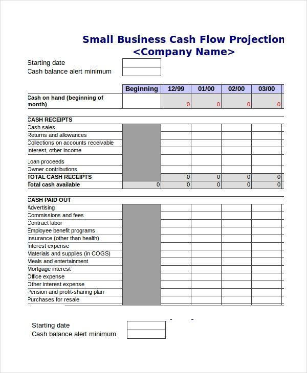 Cash Flow Sheet Template Cash Flow Cash Budget