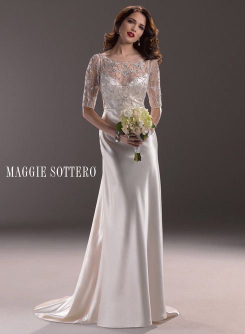 Estella Bridal Gown By Maggie Sottero Available Only Shown Colour In Antique Ivory