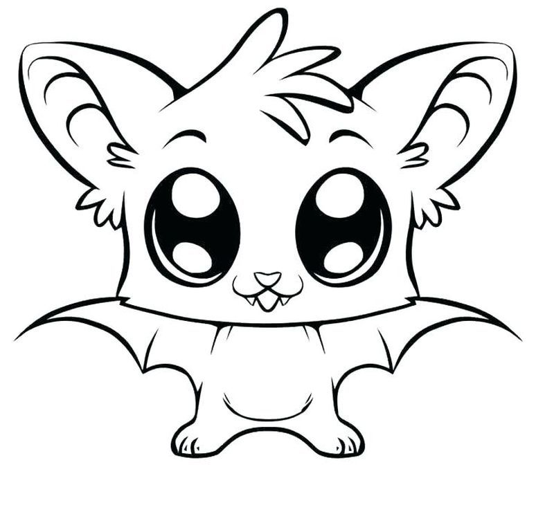 Littlest Pet Shop Coloring Pages Bat Coloring Pages Cute Coloring Pages Easy Animal Drawings