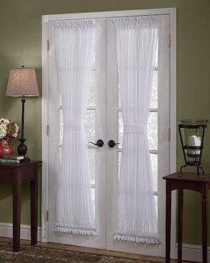Sheer Voile Door Panel Panel Doors Door Panel Curtains French