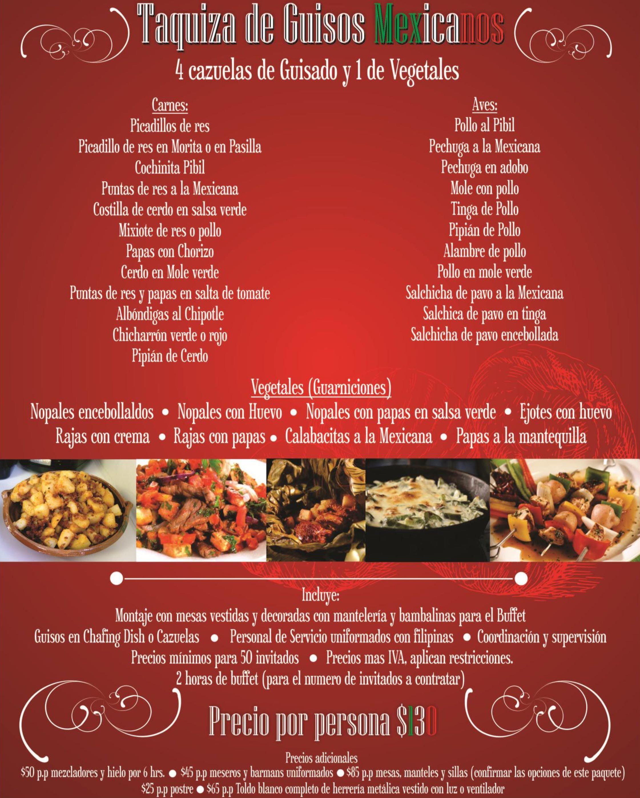 Mejores Banquetes Taquiza De Guisos Mexicanos El Restaurante