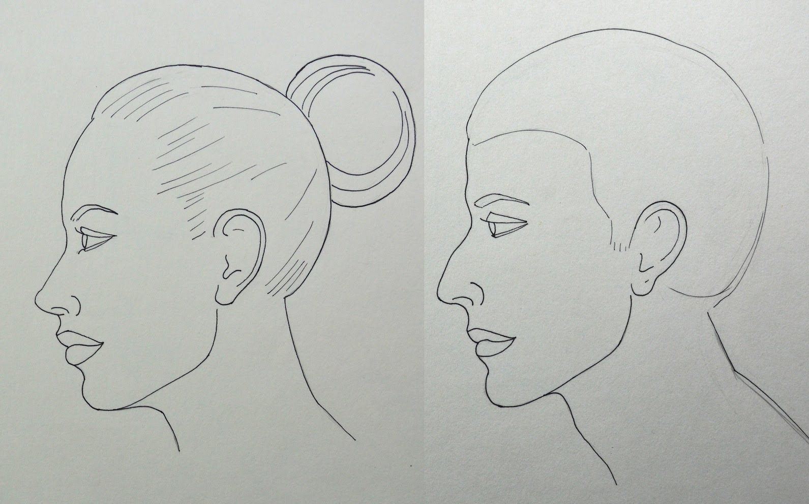 Como Dibujar Un Rostro De Perfil Facilmente Hombre Y Mujer Cara Real Drawings Face Drawing Barbie Drawing