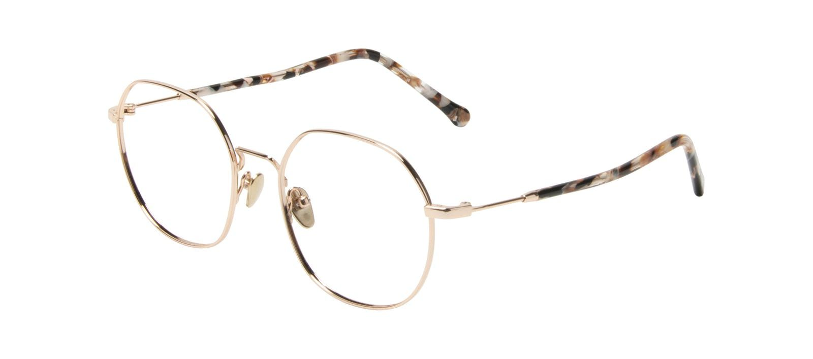 7d91b339cd10 Affordable Fashion Glasses Round Eyeglasses Women Coco Gold Tilt