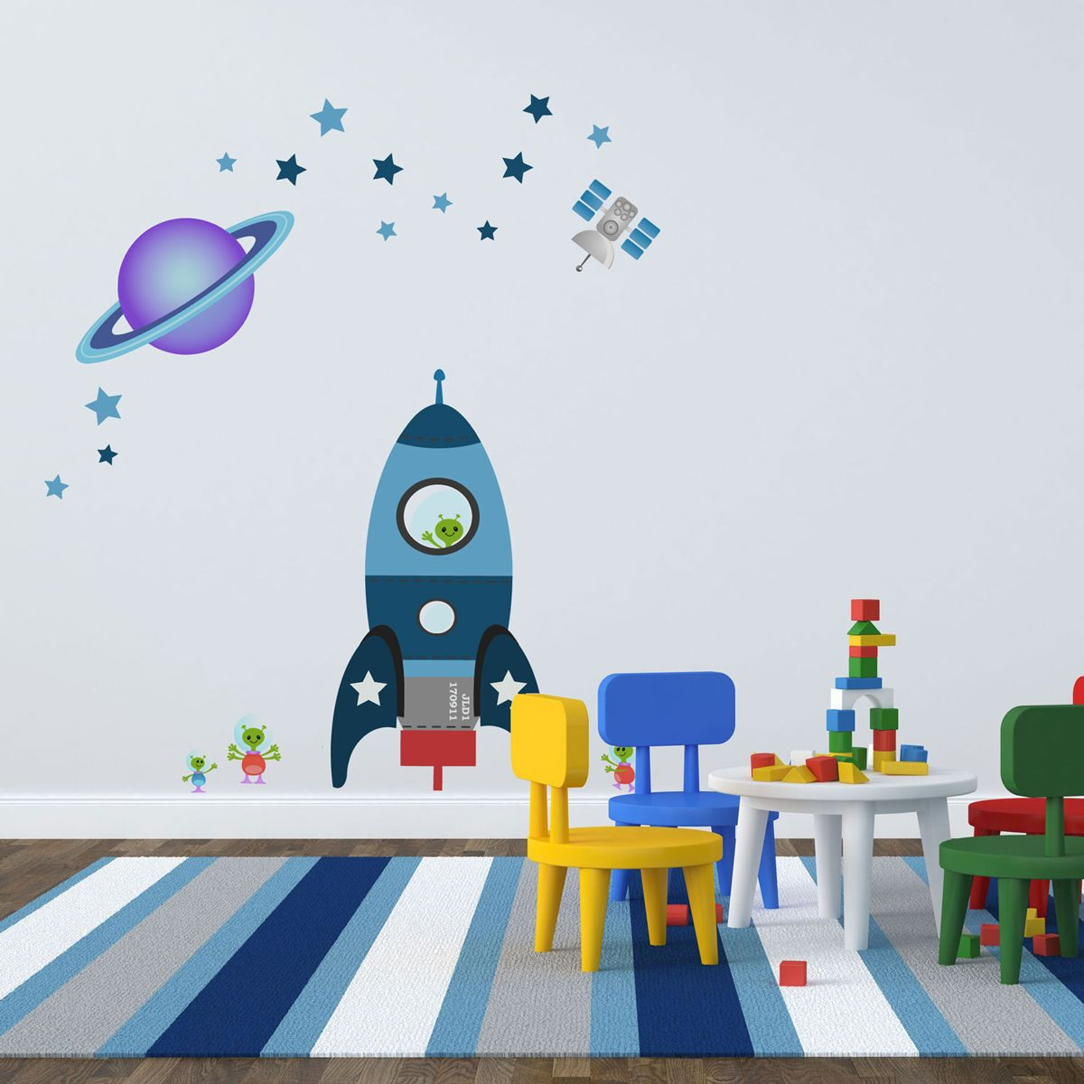 Personalised Space Rocket Wall Sticker