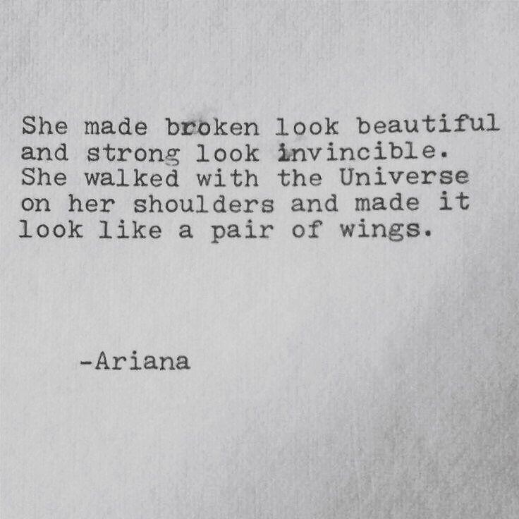 Broken look beautiful