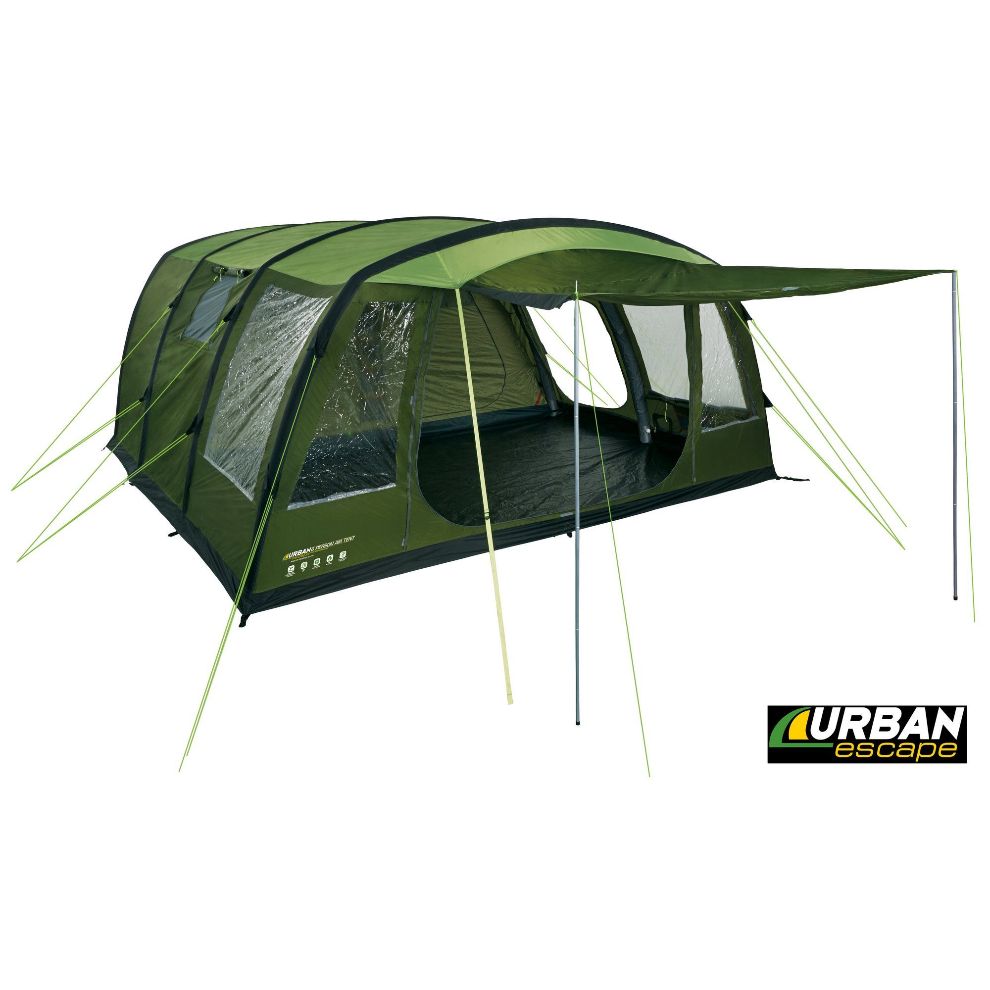 image of Urban Escape 6 Man Inflatable Tent  sc 1 st  Pinterest & http://www.halfords.com/motoring-travel/camping-caravanning/5-6 ...
