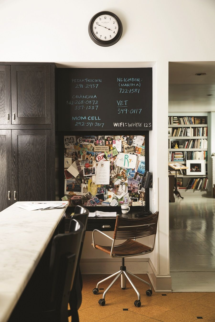 Chalk it up to experience with a handy chalkboard home design