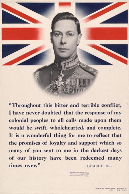 King George VI Fantastic POSTER
