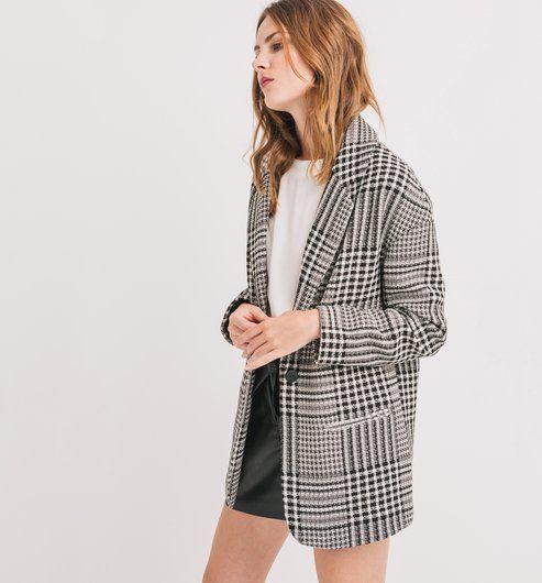 Veste Mode Femme Imprimé Noir Promod Carreaux À 2019 En WYqWnPw14