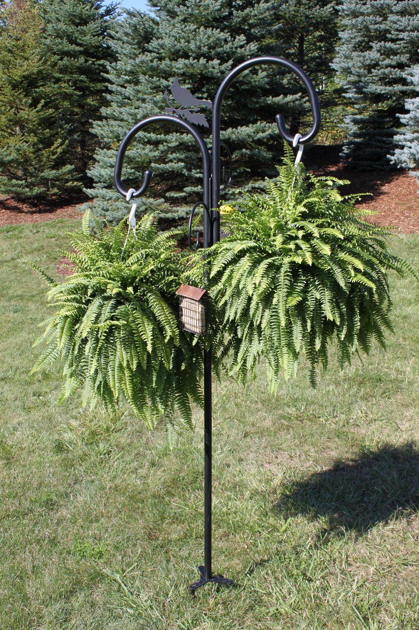 Duncraft Com Heavy Duty Shepherd Pole Hanging Plants Outdoor Hanging Plants Hanging Plants Indoor