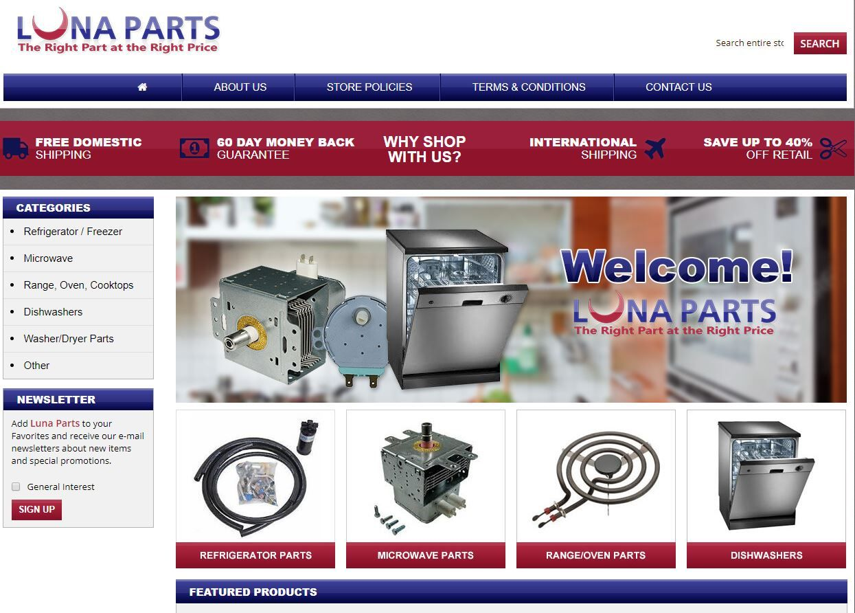Best source for home appliances repair and service parts for