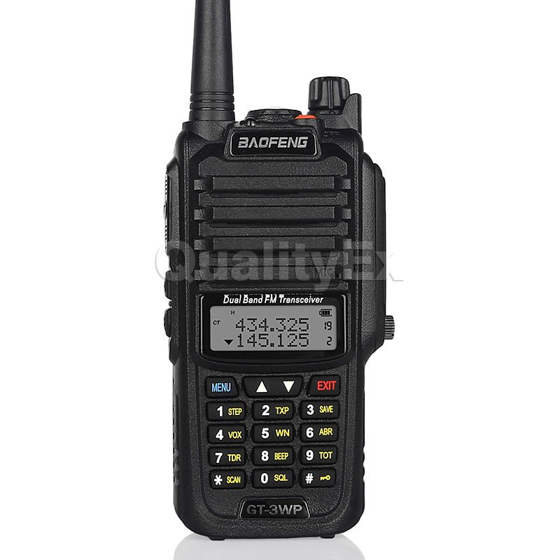 Baofeng gt-3wp ip67 impermeabile dual band 136-174/400-520 mhz ham radio bidirezionale del ricetrasmettitore walkie talkie + cable car charger