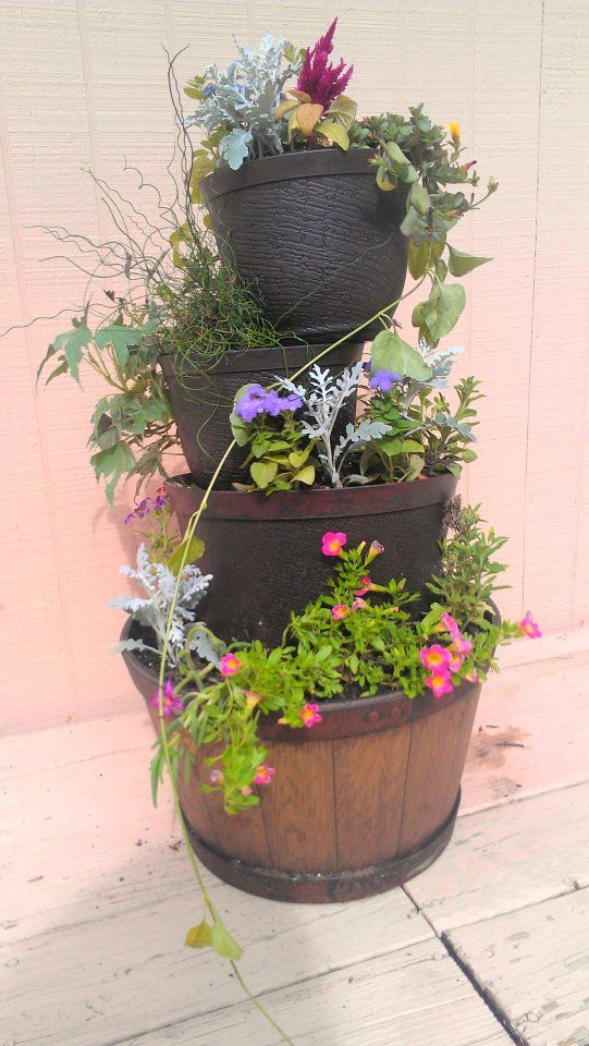 Planter I Made By Stacking Pots From The Dollar Store Nature