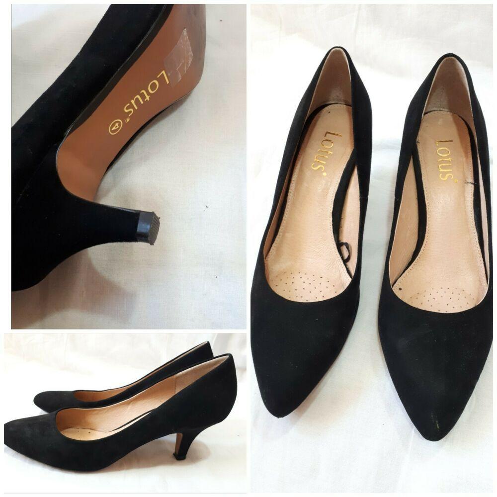 Lotus Size Uk 4 Ladies Black Shoes Kittens Heels Lovely Kitten Heels From Ebay Uk Kittenheels Heels 7 99 End D Black Shoes Women Kitten Heel Shoes Heels