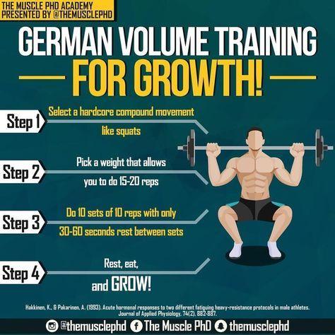 german volume training method with 6 weeks training