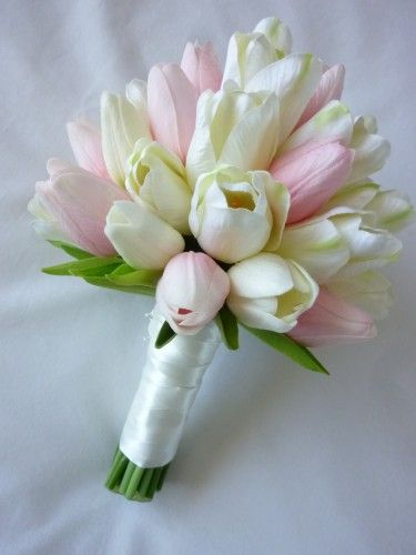Tulip Bouquets Wedding Classic Tulip Bridal Bouquet Artificial