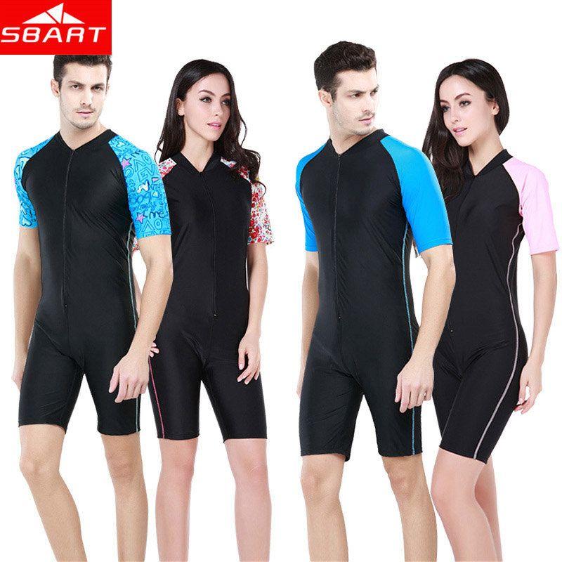 4c37eeda76 SBART Short Sleeve Wetsuit for Swimming Anti-UV Snorkel Scuba Diving Suit  One Piece Lycra Dive Skins Rashguard Men Womens XXL