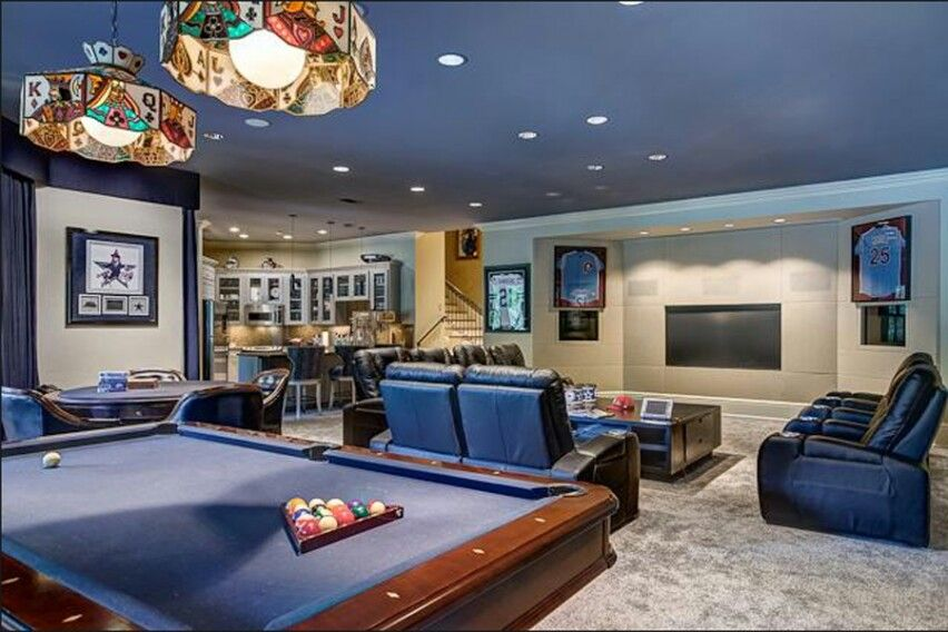 Cool Game Room Idea Love This Gorgeous Pool Table Living Room Design Design Inspiration
