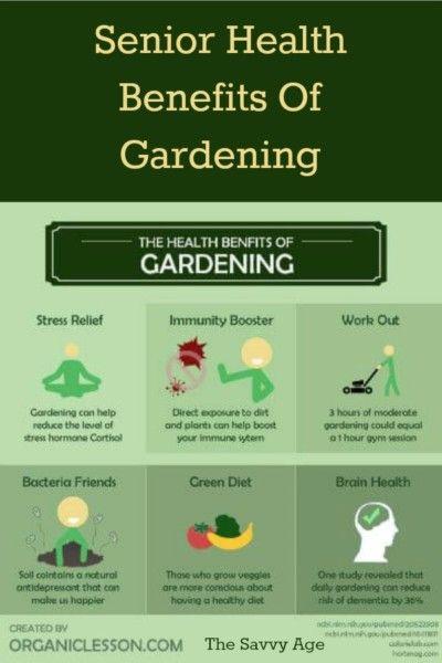 Health Benefits Of Gardening For Seniors Health Benefits Gardens And Plants