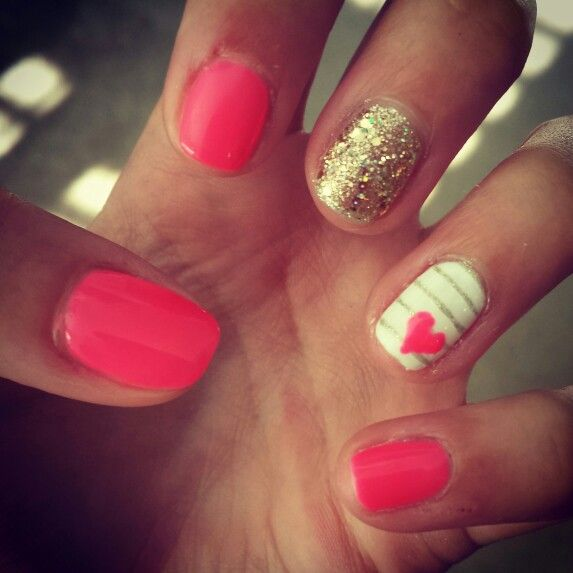 Shellac Nails With More Of A Pink Color Rather Than C